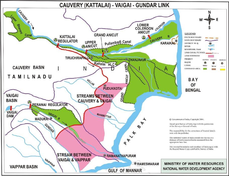 Tamil Nadu Rivers and Drainage System 2 - Tamil Nadu PCS Free Notes